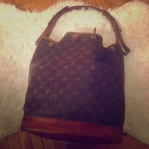 Vintage large Louis Vuitton bucket bag!